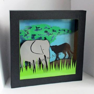 Elephant Picture Box Template